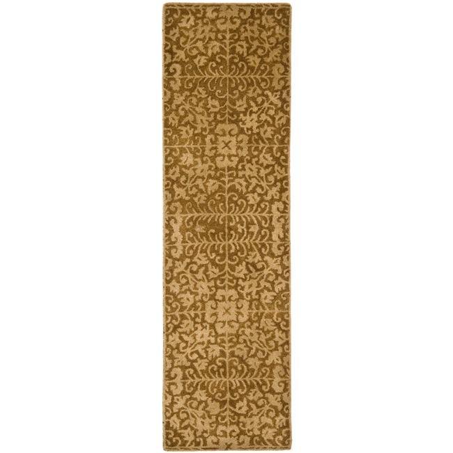 Safavieh Handmade Majestic Beige Wool Runner Rug - 2'3 x 20'