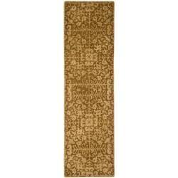 Safavieh Handmade Majestic Beige Wool Runner Rug - 2'3 x 20' - Thumbnail 0