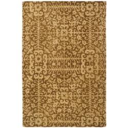Safavieh Handmade Majestic Beige Wool Rug (4' x 6')