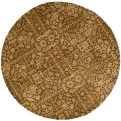 Safavieh Handmade Majestic Beige Wool Rug (3'6 Round)