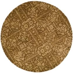 Safavieh Handmade Majestic Beige Wool Rug (6' Round)