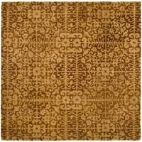 Safavieh Handmade Majestic Beige Wool Rug - 6' x 6' Square