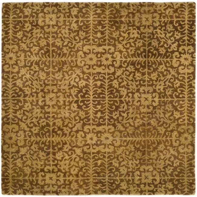 Safavieh Handmade Majestic Beige Wool Rug (8' Square)
