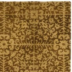 Safavieh Handmade Majestic Beige Wool Rug (8' Square) - Thumbnail 1