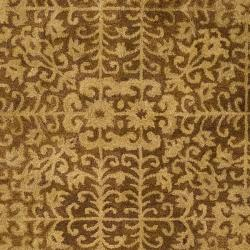 Safavieh Handmade Majestic Beige Wool Rug (8' Square) - Thumbnail 2