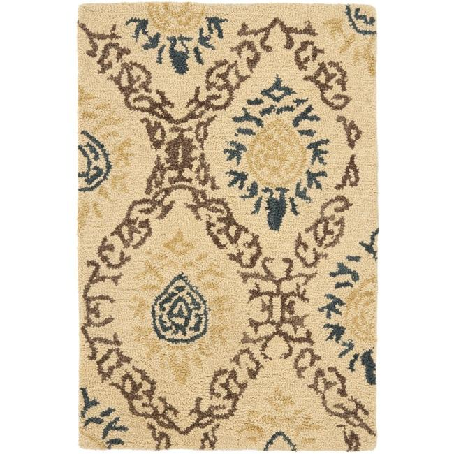 Safavieh Handmade Traditions Beige Wool Rug (2' x 3')