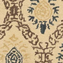 Safavieh Handmade Traditions Beige Wool Rug (2' x 3') - Thumbnail 2