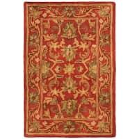 Safavieh Handmade Heirloom Red Wool Rug - 2' X 3'