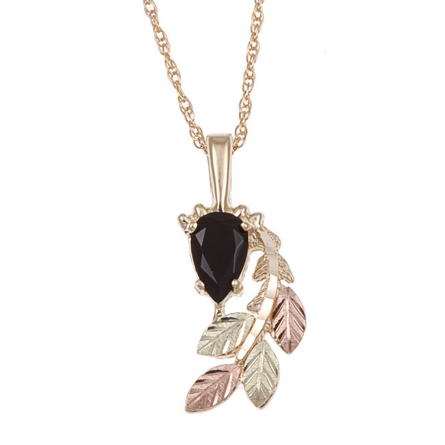 Black Hills Gold Black Onyx Necklace