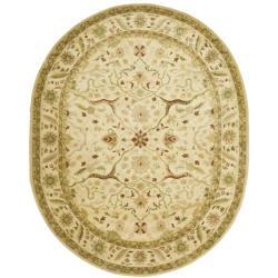 Safavieh Handmade Mahal Ivory Wool Rug (4'6 x 6'6 Oval)