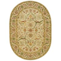 "Safavieh Handmade Mahal Ivory Wool Rug - 4'6"" x 6'6"" Oval"