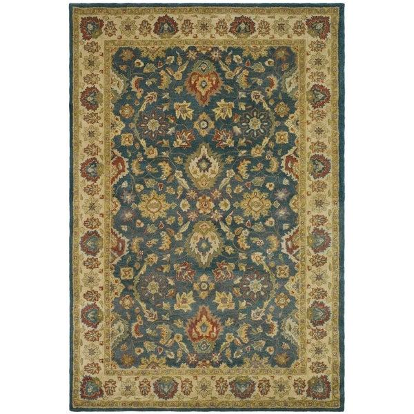 "Safavieh Handmade Jaipur Blue/ Beige Wool Rug - 9'6"" x 13'6"""