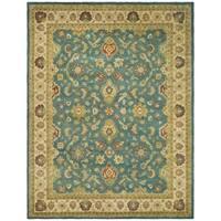 "Safavieh Handmade Jaipur Blue/ Beige Wool Rug - 7'-6"" x 9'-6"""
