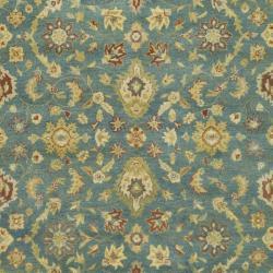Safavieh Handmade Jaipur Blue/ Beige Wool Rug (8'3 x 11') - Thumbnail 2