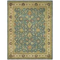 Safavieh Handmade Jaipur Blue/ Beige Wool Rug - 8'3 x 11'