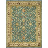"Safavieh Handmade Jaipur Blue/ Beige Wool Rug - 8'-3"" x 11'"