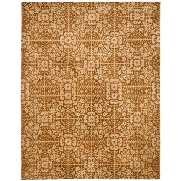 "Safavieh Handmade Majestic Beige Wool Rug - 9'-6"" x 13'-6"""