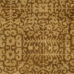 Safavieh Handmade Majestic Beige Wool Rug (5' x 8') - Thumbnail 2