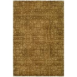 Safavieh Handmade Majestic Beige Wool Rug (5' x 8')