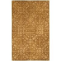 Safavieh Handmade Majestic Beige Wool Rug - 5' x 8'