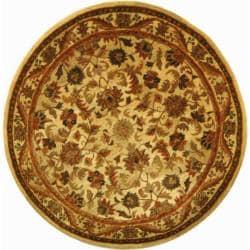 Safavieh Handmade Heritage Ivory Wool Rug (6' Round) - Thumbnail 0