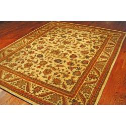 Safavieh Handmade Heritage Ivory Wool Rug (7'6 x 9'6) - Thumbnail 1