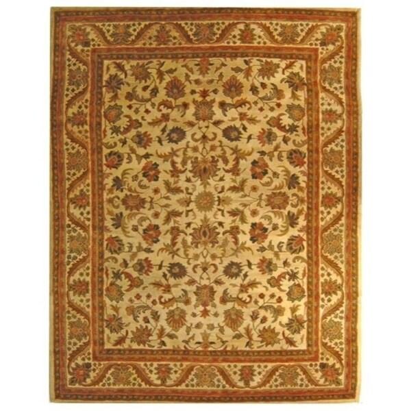 "Safavieh Handmade Heritage Ivory Wool Rug - 7'-6"" x 9'-6"""