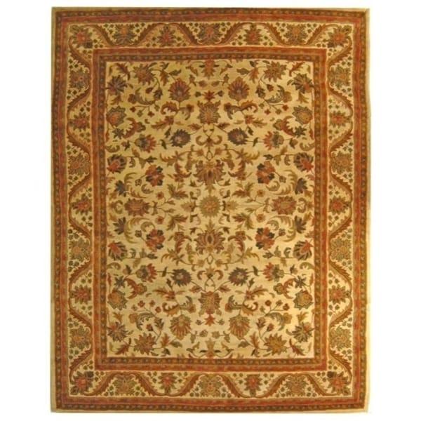 "Safavieh Handmade Heritage Ivory Wool Rug - 8'3"" x 11'"