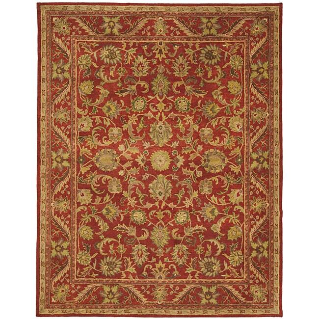 "Safavieh Handmade Heirloom Red Wool Rug - 9'6"" x 13'6"""