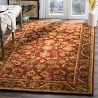 Safavieh Handmade Heirloom Red Wool Rug - 6' x 9'