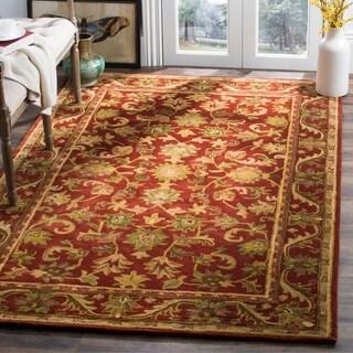 Safavieh Handmade Heirloom Red Wool Rug - 6' x 9'