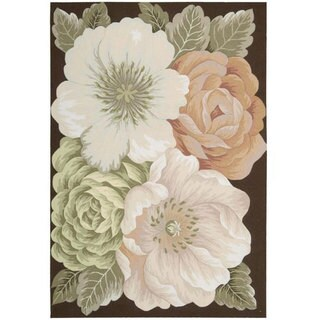 Nourison Hand-Hooked Fantasy Floral Multi Rug (5' x 7'6)