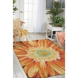 Nourison Hand-hooked Fantasy Yellow Rug (8' x 10'6)