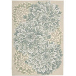 Nourison Hand-hooked Fantasy Light Green Rug (2'6 x 4')