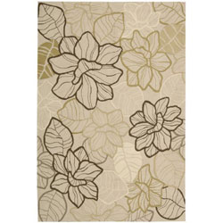 "Nourison Casual Hand-Hooked Fantasy Beige Rug - 1'9"" x 2'9"""