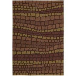 Nourison Hand-hooked Fantasy Brick Abstract Rug (3'6 x 5'6) - 3'6 x 5'6 - Thumbnail 0