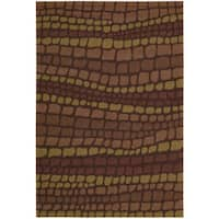 Nourison Hand-hooked Fantasy Brick Abstract Rug (3'6 x 5'6) - 3'6 x 5'6