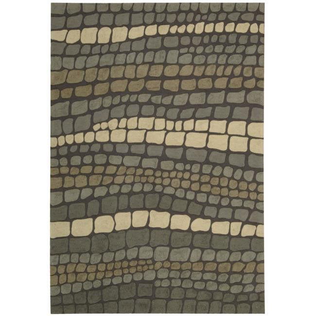 Nourison Hand-hooked Fantasy Multi Abstract Rug (5' x 7'6)