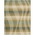 Nourison Hand-tufted Panache Sage/Beige Abstract Wool Rug - 8' x 11'