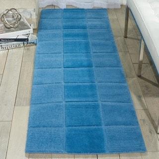 Nourison Hand-tufted Westport Blue Wool Rug (2'3 x 7'6)