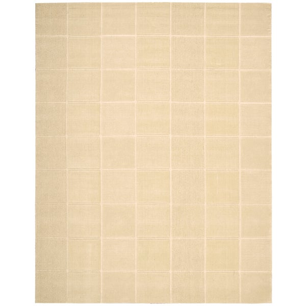 Nourison Westport Hand-Tufted Casual Ivory Wool Rug - 3'6 x 5'6
