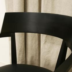 Laine Wenge Wood/ Faux Leather Modern Dining Chairs (Set of 2) - Thumbnail 2