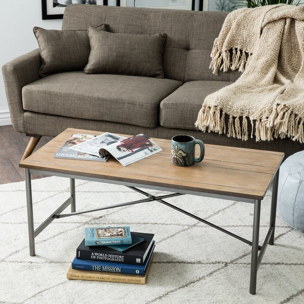 Elements Cross-design Reclaimed Look Coffee Table