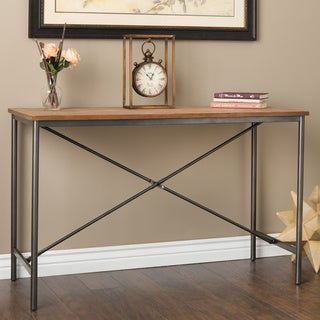 Elements Cross-design Grey Sofa Table