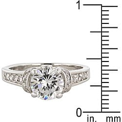 Kate Bissett Silvertone Clear Cubic Zirconia Cocktail Ring - Thumbnail 2