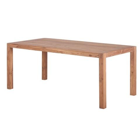Handmade Reclaimed Teak Wood Simple Dining Table (India)