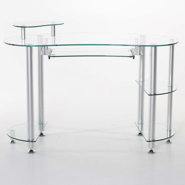 Glass 'Miranda' Computer Desk