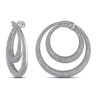 Miadora Signature Collection 18k White Gold 5 7/8ct TDW Diamond Earrings