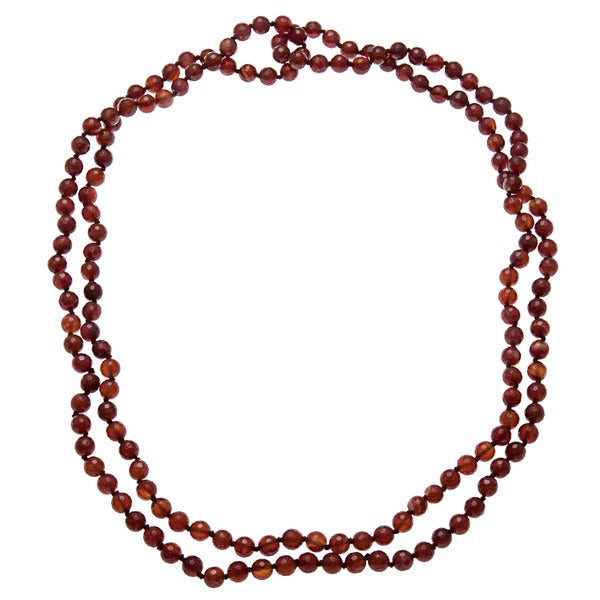 60-inch Carnelian Endless Necklace