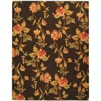 Safavieh Hand-hooked Garden Vines Brown Wool Rug - 5'3 x 8'3